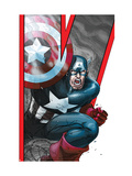 Avengers: Earths Mightiest Heroes No.2 Cover: Captain America Print by Kolins Scott