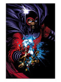 March On Ultimatum Saga Cover: Magneto Affiches par David Finch