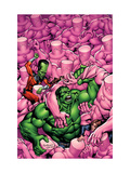 Marvel Adventures Hulk 15 Cover: Hulk and Leader Affiches par Santacruz Juan
