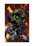 World War Hulk No.2 Cover: Hulk Affiches par David Finch
