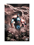 Captain America And The Falcon No.9 Cover: Captain America Posters by Joe Bennett