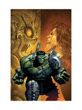 Incredible Hulk No.108 Cover: Hulk, Miek, Jones and Rick Poster by Land Greg