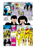New Mutants Annual 2 Group: Magik, Magma, Cannonball, Moonstar and New Mutants Art par Davis Alan