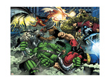 World War Hulk No.2 Group: Hulk Print by Romita Jr. John