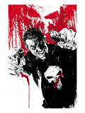 Punisher War Journal No.17 Cover: Punisher Prints by Alex Maleev