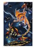 Stormbreaker: The Saga Of Beta Ray Bill No.3 Cover: Stardust and Beta-Ray Bill Flying Prints by Andrea Di Vito