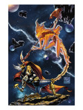 Stormbreaker: The Saga Of Beta Ray Bill 3 Cover: Stardust and Beta-Ray Bill Flying Prints by DiVito Andrea