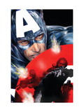 Captain America 37 Cover: Captain America Print by Guice Jackson