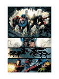 Amazing Spider-Man 523 Group: Captain America, Luke Cage, Iron Man and Spider Woman Prints by Mike Deodato