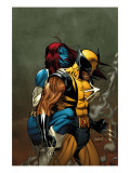 Wolverine No.62 Cover: Wolverine and Mystique Poster von Ron Garney