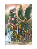 Marvel Two-In-One: X-Men: First Class 3: Cyclops, Marvel Girl, Angel, Beast and Iceman Prints by Roger Cruz