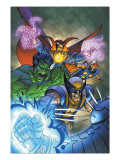 Marvel Team-Up No.11 Cover: Hulk, Wolverine, Dr. Strange and Nova Prints by Paco Medina