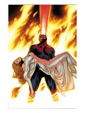 X-Men: Phoenix - Endsong 4 Cover: Cyclops and Emma Frost Posters by Land Greg