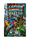Captain America &amp; The Falcon 13 Cover: Captain America, Falcon and Spider-Man Posters by John Romita Sr.