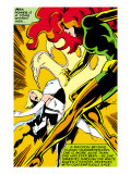Marvel Comics Retro: X-Men Comic Panel, Phoenix, Emma Frost, Fighting Prints