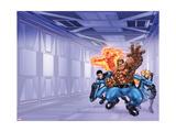 Marvel Adventures Fantastic Four No.0 Cover: Mr. Fantastic Prints by Scot Eaton