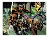 Realm of Kings Inhumans 4 Group: Gorgon, Lockjaw, Ronan the Accuser and Crystal Poster by Raimondi Pablo