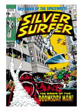 Marvel Comics Retro: Silver Surfer Comic Book Cover No.13 Kunstdrucke