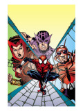 Spider-Girl 94 Cover: Spider-Man, Hawkeye, Scarlet Witch and Ant-Man Posters by Ron Frenz
