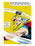 Marvel Comics Retro: Mighty Thor Comic Panel, Swinging Hammer Poster