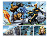 Nova 21 Group: Nova, Mr. Fantastic, Invisible Woman, Thing and Human Torch Print by Wellinton Alves