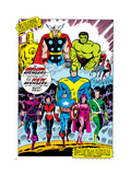 Giant-Size Avengers No.1 Group: Iron Man Affiches par Don Heck