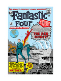 The Fantastic Four No.13 Cover: Mr. Fantastic Poster by Jack Kirby