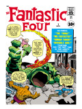 Marvel Comics Retro: Fantastic Four Family Comic Book Cover 1 Posters