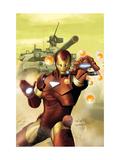 Invincible Iron Man No.2 Cover: Iron Man Prints by Salvador Larroca