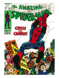 Marvel Comics Retro: The Amazing Spider-Man Comic Book Cover No.68, Crisis on Campus Posters
