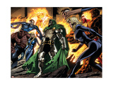 Fantastic Four 553 Group: Dr. Doom, Mr. Fantastic, Thing, Invisible Woman and Human Torch Art by Pelletier Paul