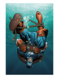 Marvel Adventures Super Heroes 12 Cover: Captain America Posters par Henry Clayton
