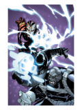 Avengers vs. Atlas No.1 Cover: M-11, Gorilla Man and Iron Man Posters by Humberto Ramos