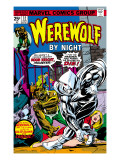 Werewolf By Night 32 Cover: Moon Knight and Werewolf By Night Art by Perlin Don