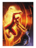 Marvel Comics No.1 70th Anniversary Edition Cover: Human Torch Print