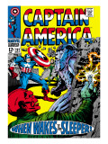 Marvel Comics Retro: Captain America Comic Book Cover No.101, Red Skull, When Wakes the Sleeper Print