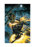 Ghost Riders: Heavens On Fire No.4 Cover: Ghost Rider and Scarecrow Posters by Weaver Dustin