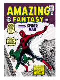 Marvel Comics Retro: Amazing Fantasy Comic Book Cover 15, Introducing Spider Man Kunstdrucke