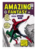 Retro Marvel Comics, omslag från Amazing Fantasy nr 15 – Spindelmannen Affischer