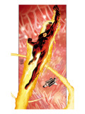 Ultimate Fantastic Four No.16 Cover: Human Torch Poster by Adam Kubert