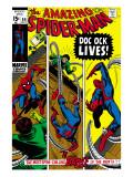 Amazing Spider-Man No.89 Cover: Spider-Man and Doctor Octopus Kunstdrucke von Gil Kane