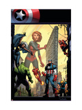 Marvel Adventures The Avengers 29 Cover: Captain Marvel Prints by Sean Murphy