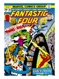 Marvel Comics Retro: Fantastic Four Family Comic Book Cover No.167, Thing and the Hulk Prints