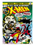 Marvel Comics Retro: The X-Men Comic Book Cover No.94, Colossus, Nightcrawler, Cyclops, Banshee Print