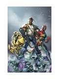 Avengers: The Initiative No.16 Cover: 3-D Man, Ryder and Riot Posters by Mark Brooks