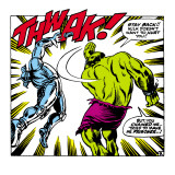 Marvel Comics Retro: The Incredible Hulk Comic Panel, Fighting, Thwak! Art