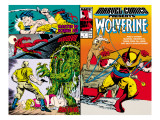 Marvel Comics Presents 5 Cover: Wolverine, Inquisitor, Marvel Comics and Thor Charging Affiche par John Buscema