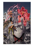 Nation X 3 Cover: Magik, Danger, Armor and Anole Prints by Weaver Dustin