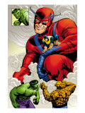 Marvel: Monsters On The Prowl No.1 Group: Hulk, Thing, Giant Man and Beast Poster by Duncan Fegredo
