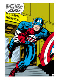 Marvel Comics Retro: Captain America Comic Panel, U.S. naval Hospital Art